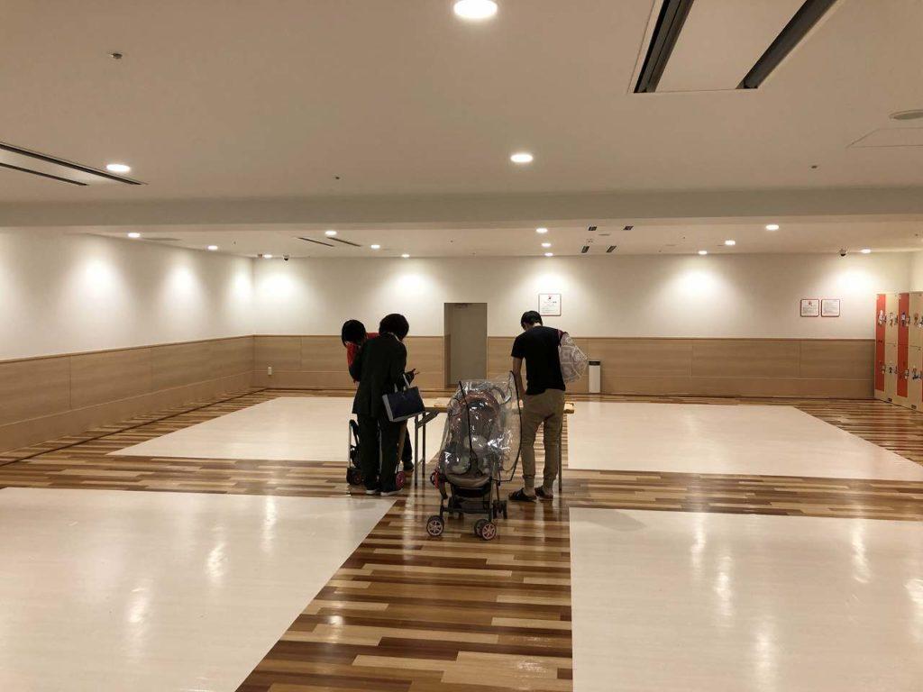 アンパンマンミュージアム横浜のベビーカー置き場